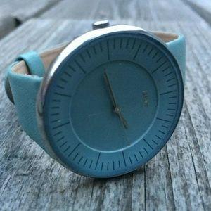 Alessi Luna AL8010 Watch Light Blue Unisex